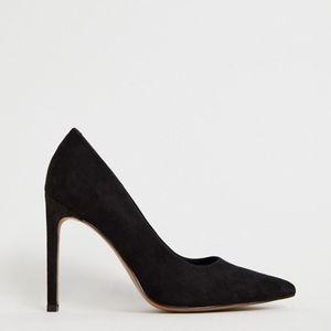 ASOS Suede Pointed High Heels - Black